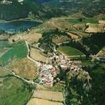 Vista aèria del poble de Montcortès - El poble Turisme Rural casa l'hereu
