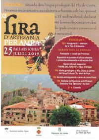 Turisme Rural casa l'hereu  :: Juliol fira d'artesania a Peramea  -